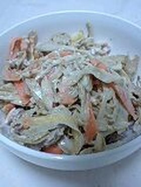 ごぼうと豚肉のゴマダレサラダ