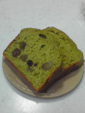 ふんわり抹茶のパウンドケーキ
