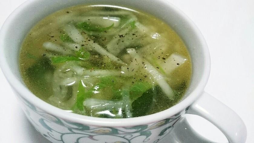 ☆超簡単☆ネギと大根の中華スープ