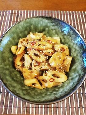 アムウェイの鍋でレンコンと竹輪の甘辛煮