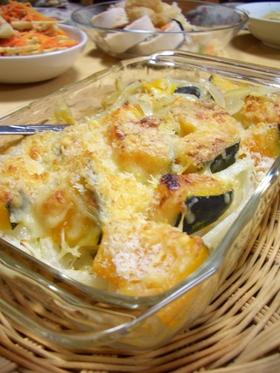 かぼちゃと玉ねぎのチーズ焼き