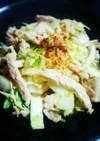 豚ロースと白菜エノキの中華風炒め