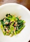 小松菜とツナの和え物風サラダ