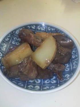 レバーとジャガイモの生姜煮