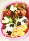 幼稚園 お弁当 秋(虫・りす・りんご)