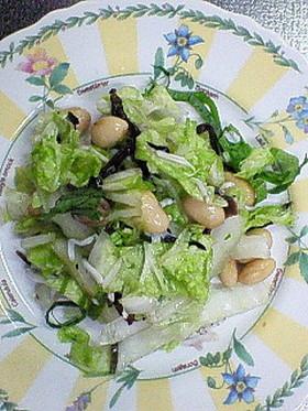 ヘルシー♪シャキシャキ白菜と大豆サラダ