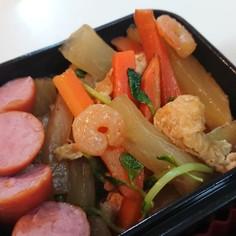 小エビと野菜の醤油炒め