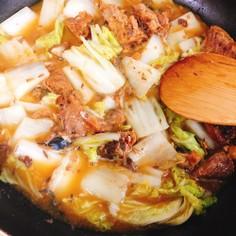 白菜と鯖缶煮