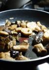 茄子とエリンギのアヒージョ風炒め