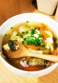うどんスープで野菜スープ☆雑炊にも♪