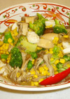茸3種X野菜X烏賊で色鮮やか❤秋の中華煮