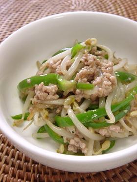 もやしと挽き肉の中華炒め。