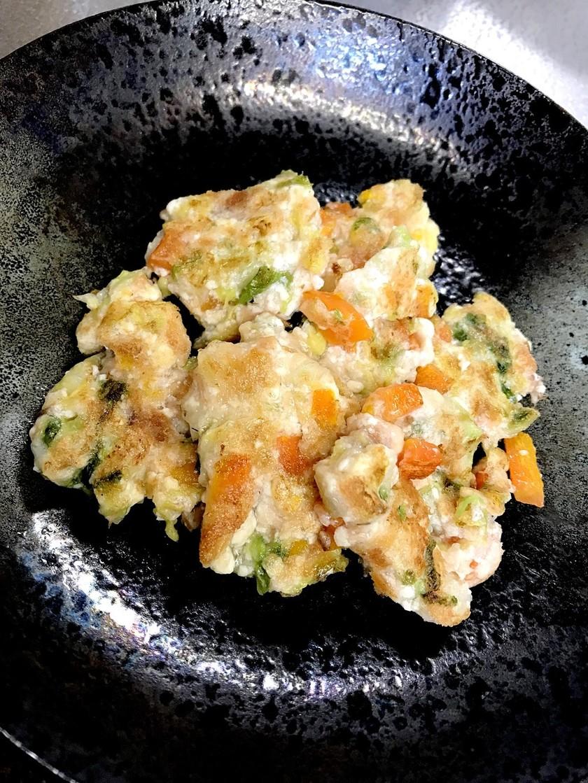 離乳食後期〜◆魚と豆腐のハンバーグおやき