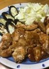 ナスと鶏肉のしぎ焼き