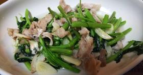 簡単中華・豚肉と青菜のニンニク塩炒め