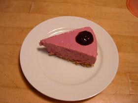 超簡単カシスのレアチーズケーキ~