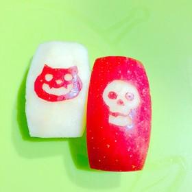ハロウィン仕様りんご飾り切り♡お弁当に♪