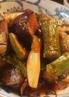 キュウリとナスとシメジの炒めマリネ