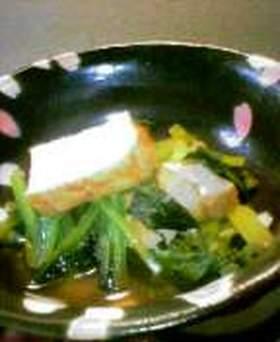 厚揚げと小松菜の炊いたん