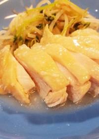 塩麹とレモン酢の鳥ハム