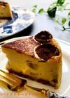 バナナのベイクドチーズケーキ