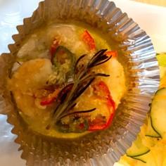 切身魚とエビの香草オイル焼き
