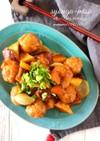 豚肉とさつまいもの生姜味噌あん。