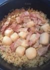 めんつゆで里芋のホクホク炊き込みご飯