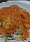 蒸し鶏のトマトソースだれ