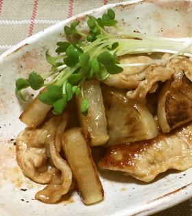 大根と豚の甘酢炒め