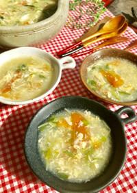 あまり野菜と豆苗♫とろ〜り中華卵スープ