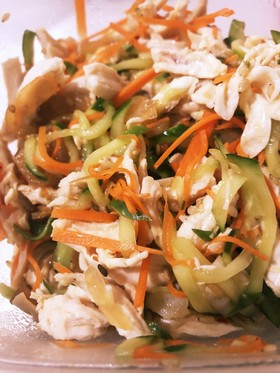簡単!ささみの中華クラゲのサラダ!!
