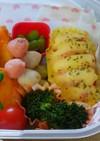 弁当に!ゆで卵のベーコン挟みマヨレンチン