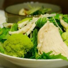 サラダチキンのせグリーンサラダ