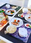 焼き魚  もずくと豚生姜焼きスープ 朝食