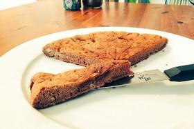 フライパンで焼くチョコバナナケーキ