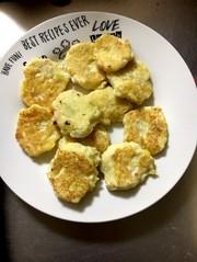 離乳食中期〜☆さつまいもと豆腐のおやきの写真