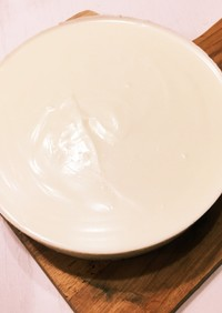 簡単!水切りヨーグルトのレアチーズケーキ
