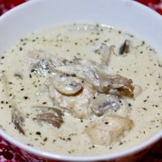 ホカホカきのこと肉団子のスープ