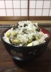 丹波の黒豆の枝豆で豆ご飯