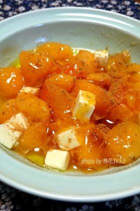 ◆柿とクリームチーズで簡単デザート◆