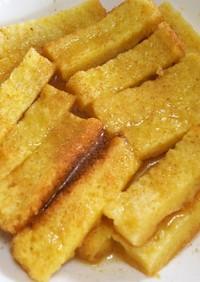 パンの耳でレンチン豆乳フレンチトースト