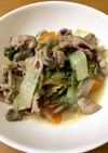 豚肉とべか菜の味噌炒め
