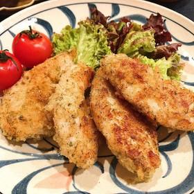 鶏むね肉の青海苔とチーズのパン粉焼き♩
