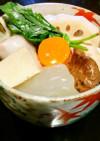 冬瓜と高野豆腐と鶏肉と里芋と蓮根の煮物