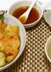 しいらと野菜フライ丼&もずくスープ