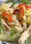 ムネ肉と野菜たっぷりぺペロンチーノ風