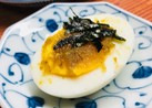 ゆで卵に柚子胡椒×ごま油