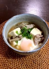 あるもの簡単関西風豆腐で豚肉すい