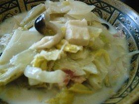 白菜と高野豆腐のミルク煮